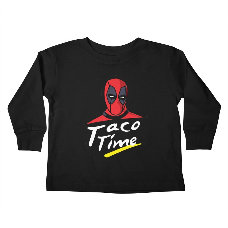 Taco Time Kids Toddler Longsleeve T-Shirt by Daletheskater
