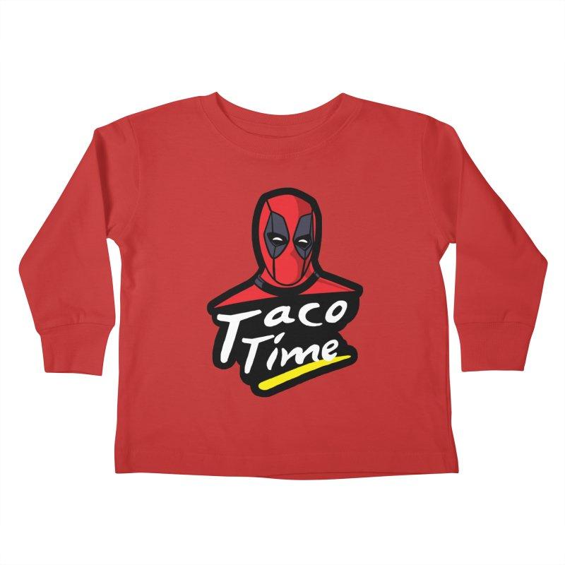 Taco Time Kids Toddler Longsleeve T-Shirt by Daletheskater