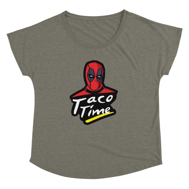 Taco Time Women's Dolman Scoop Neck by Daletheskater
