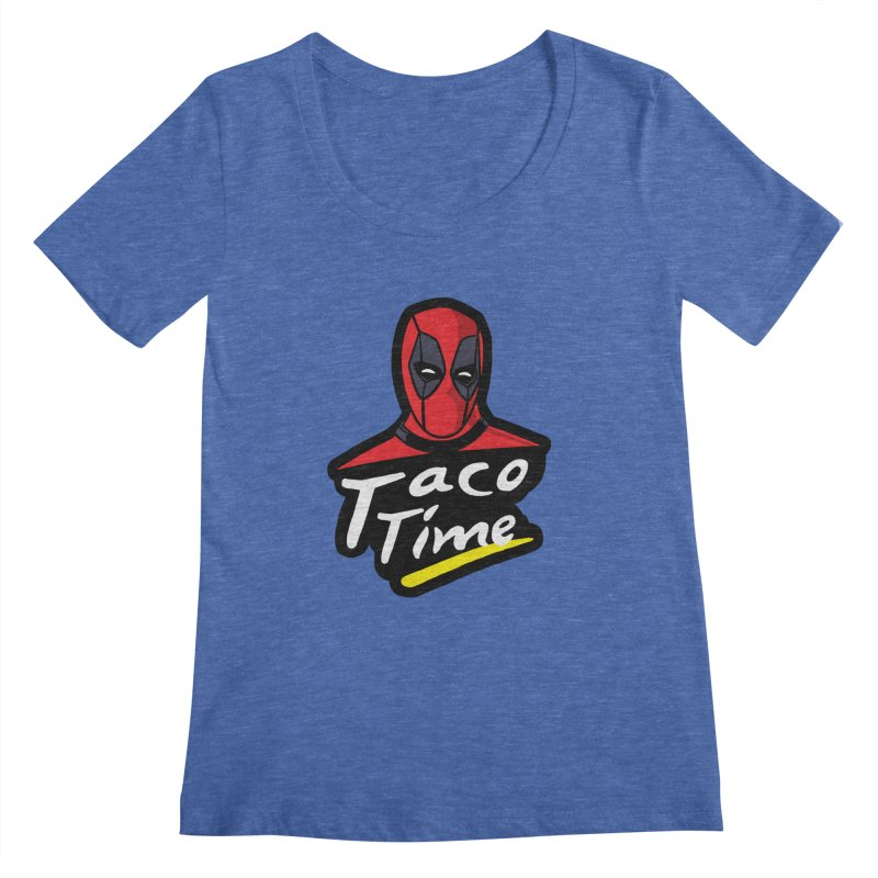Taco Time Women's Regular Scoop Neck by Daletheskater