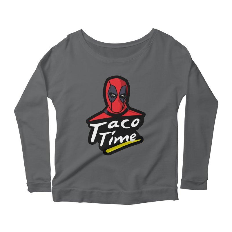Taco Time Women's Longsleeve Scoopneck  by Daletheskater