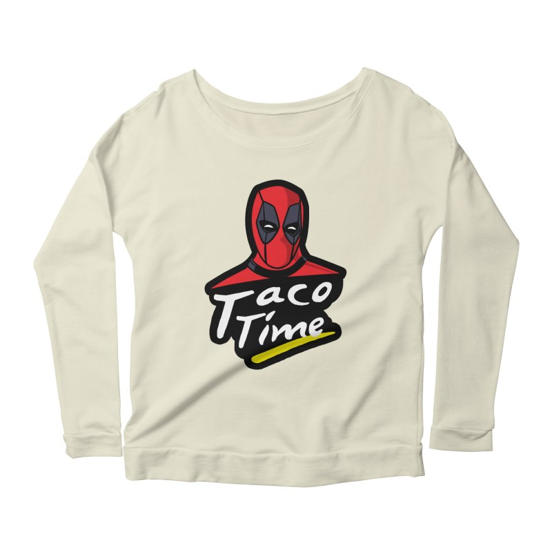 Taco Time Women's Scoop Neck Longsleeve T-Shirt by Daletheskater