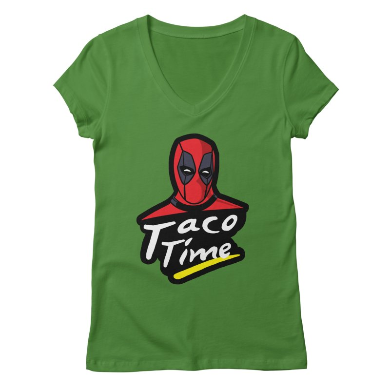 Taco Time Women's Regular V-Neck by Daletheskater