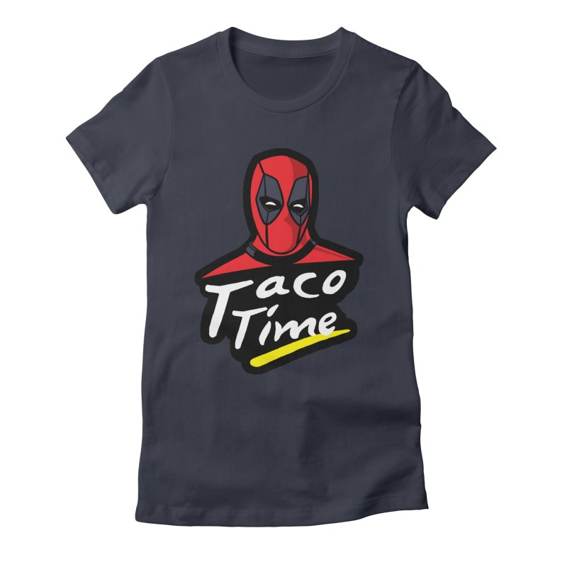 Taco Time Women's Fitted T-Shirt by Daletheskater