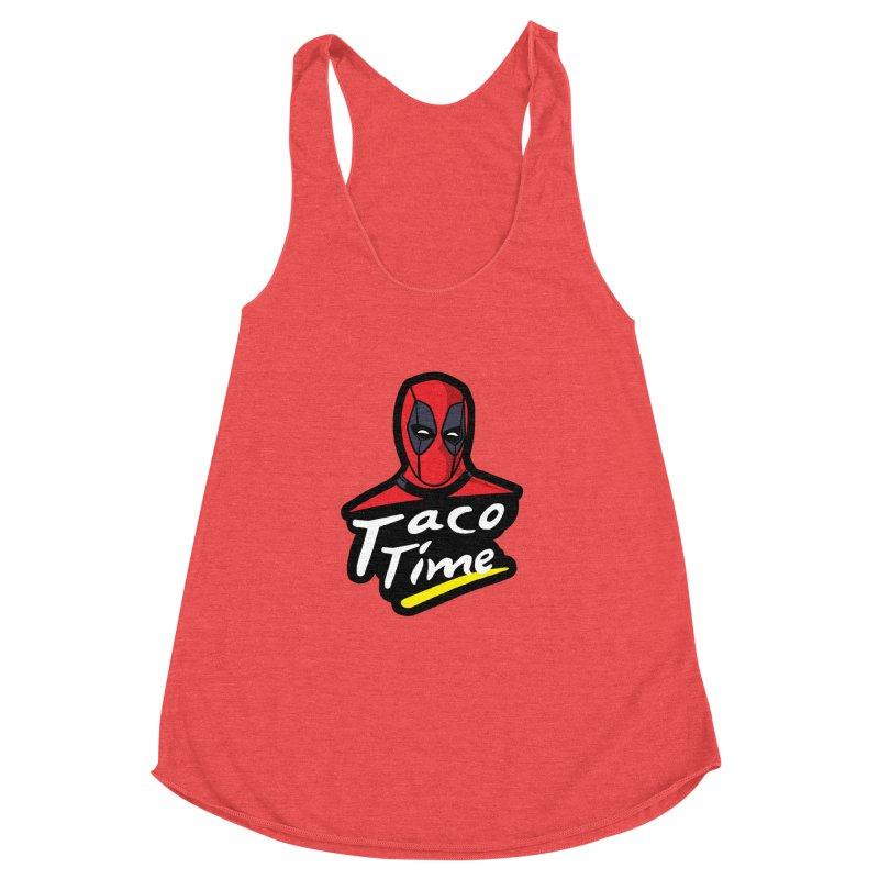 Taco Time Women's Racerback Triblend Tank by Daletheskater