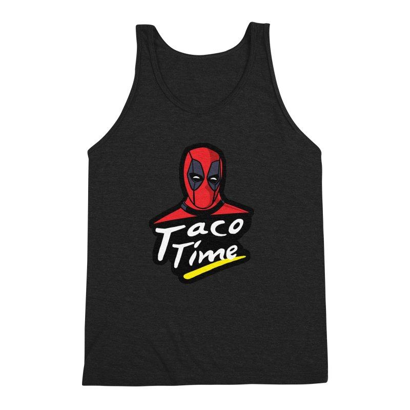 Taco Time Men's Triblend Tank by Daletheskater