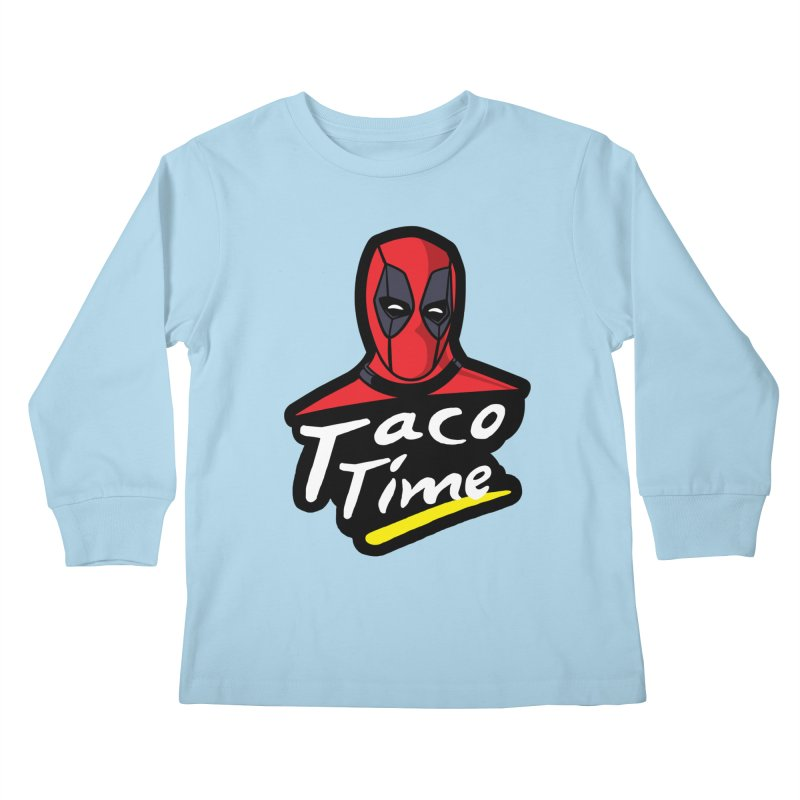Taco Time Kids Longsleeve T-Shirt by Daletheskater