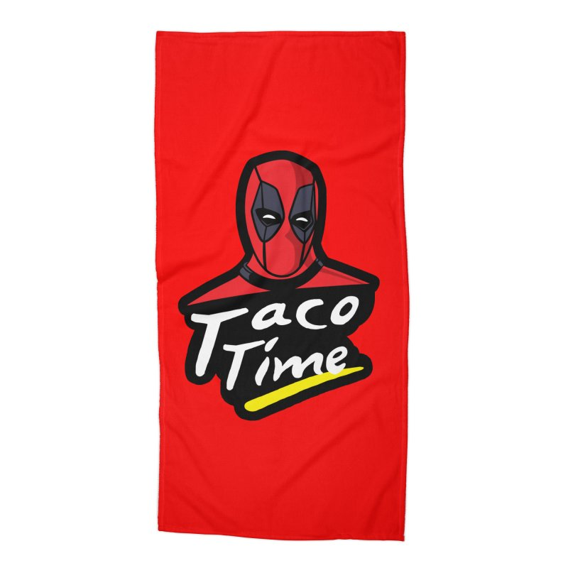 Taco Time Accessories Beach Towel by Daletheskater
