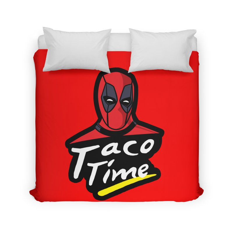 Taco Time Home Duvet by Daletheskater