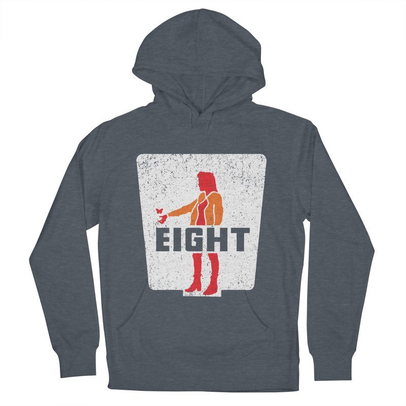 Eight Men's French Terry Pullover Hoody by Daletheskater