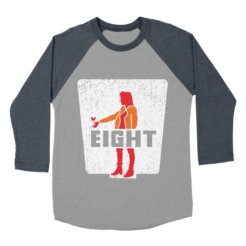Eight Men's Baseball Triblend Longsleeve T-Shirt by Daletheskater