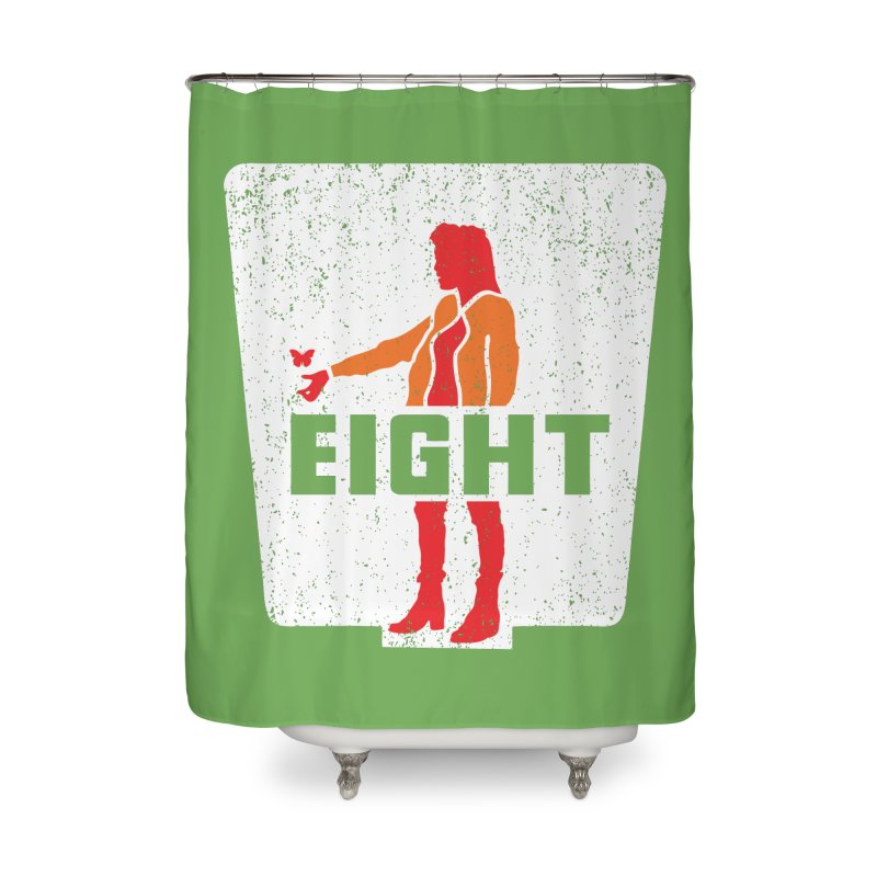 Eight Home Shower Curtain by Daletheskater