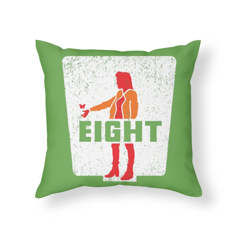 Eight Home Throw Pillow by Daletheskater