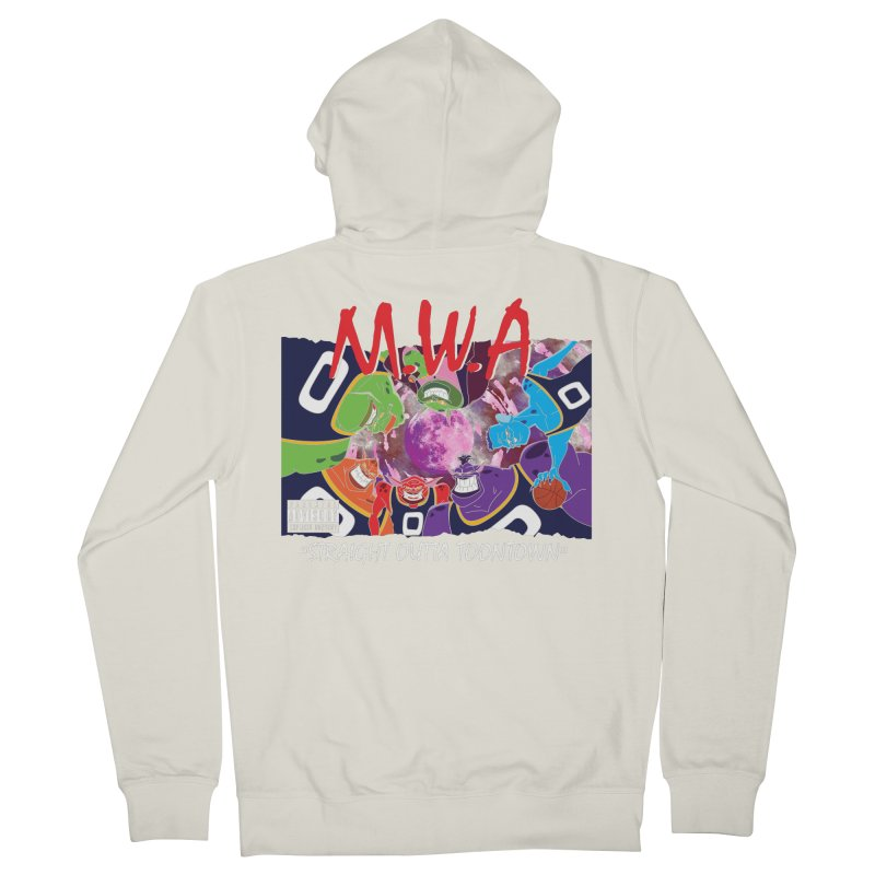 Straight Outta Toontown Women's French Terry Zip-Up Hoody by Daletheskater