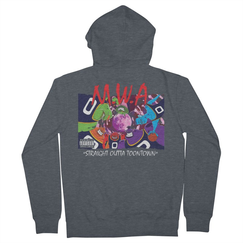 Straight Outta Toontown Men's French Terry Zip-Up Hoody by Daletheskater