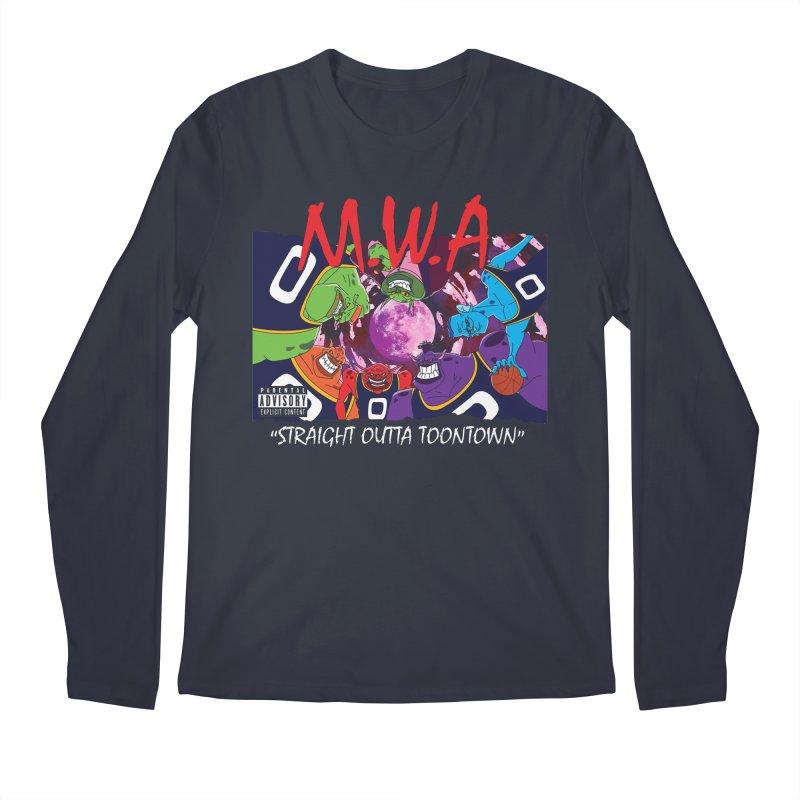 Straight Outta Toontown Men's Longsleeve T-Shirt by Daletheskater