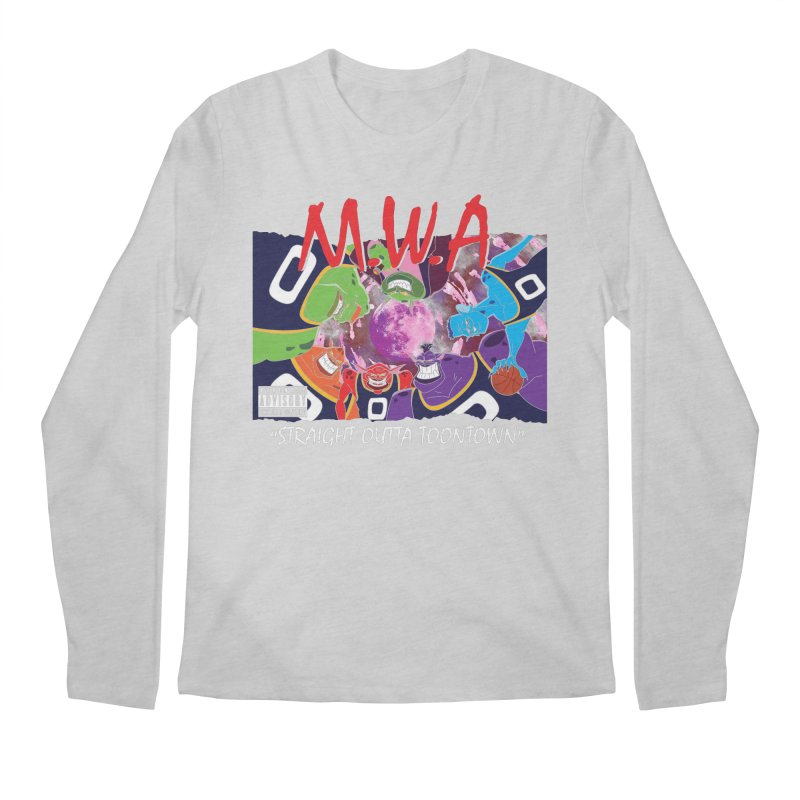 Straight Outta Toontown Men's Longsleeve T-Shirt by Daletheskater