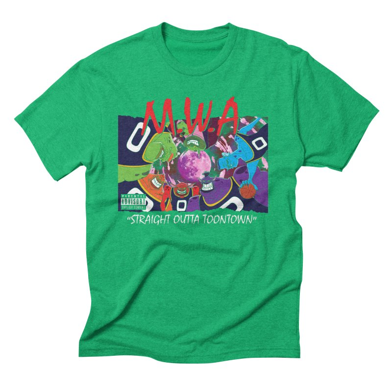 Straight Outta Toontown Men's Triblend T-Shirt by Daletheskater