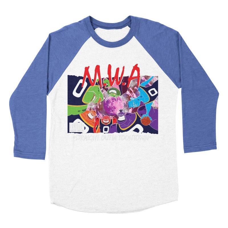 Straight Outta Toontown Women's Baseball Triblend Longsleeve T-Shirt by Daletheskater