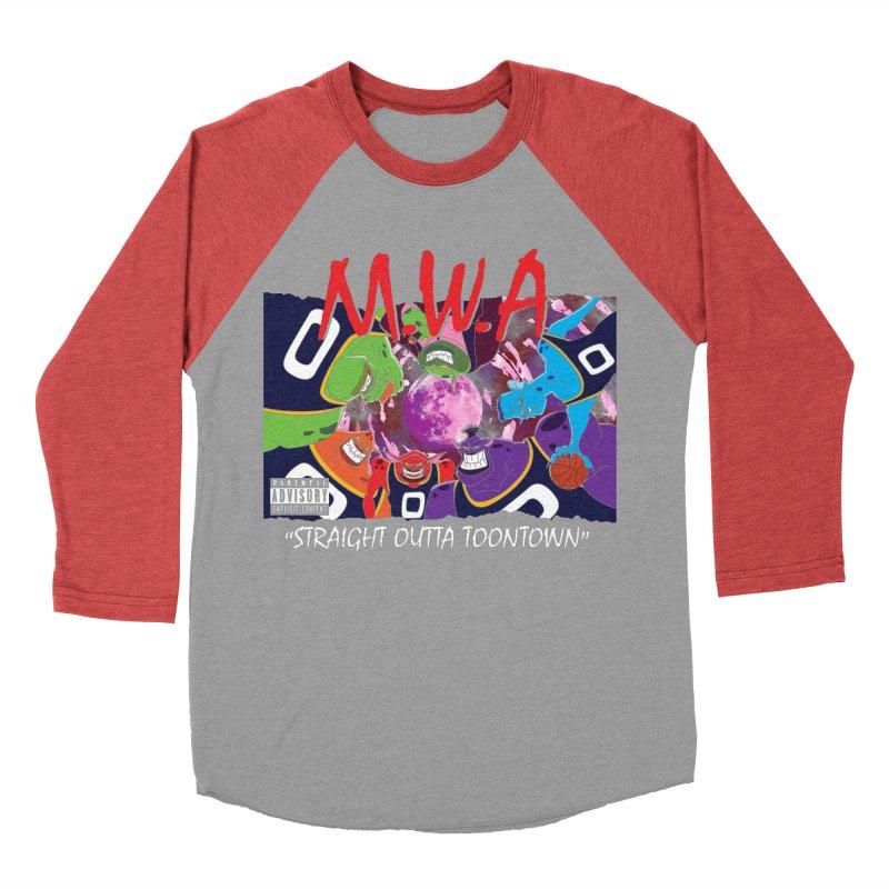 Straight Outta Toontown Men's Baseball Triblend T-Shirt by Daletheskater