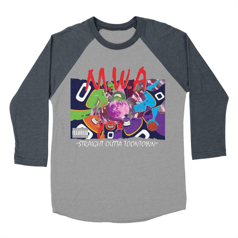 Straight Outta Toontown Men's Baseball Triblend Longsleeve T-Shirt by Daletheskater