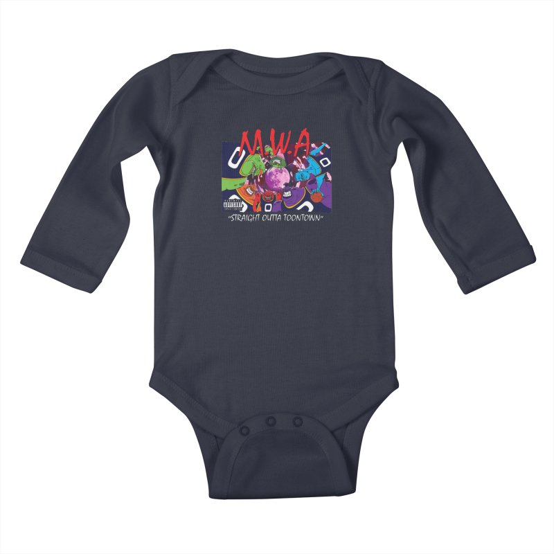 Straight Outta Toontown Kids Baby Longsleeve Bodysuit by Daletheskater