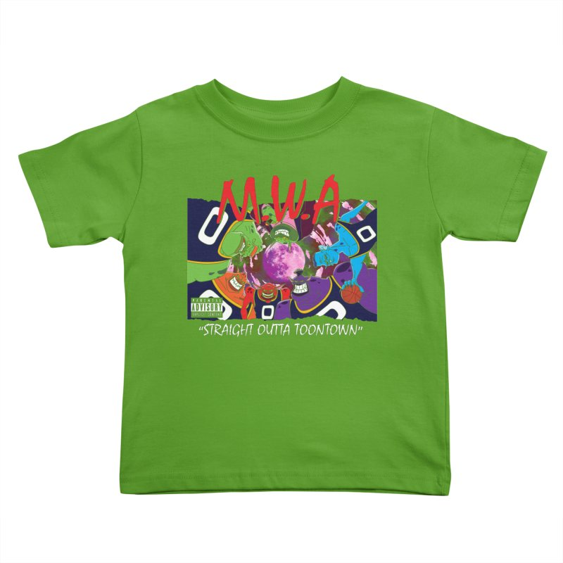 Straight Outta Toontown Kids Toddler T-Shirt by Daletheskater