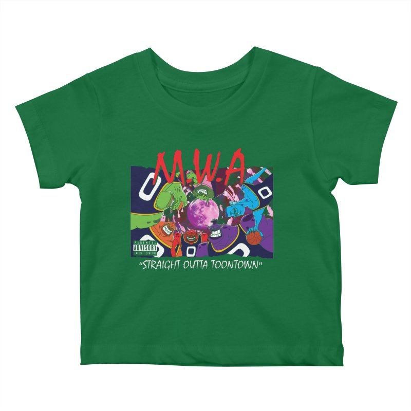 Straight Outta Toontown Kids Baby T-Shirt by Daletheskater