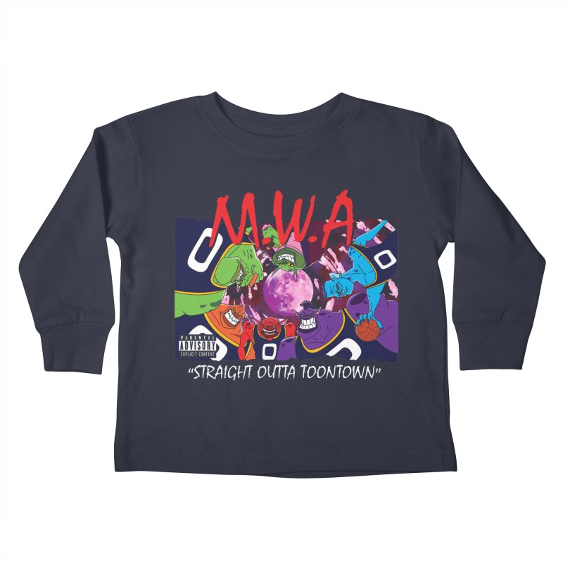 Straight Outta Toontown Kids Toddler Longsleeve T-Shirt by Daletheskater