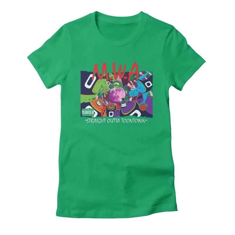 Straight Outta Toontown Women's Fitted T-Shirt by Daletheskater