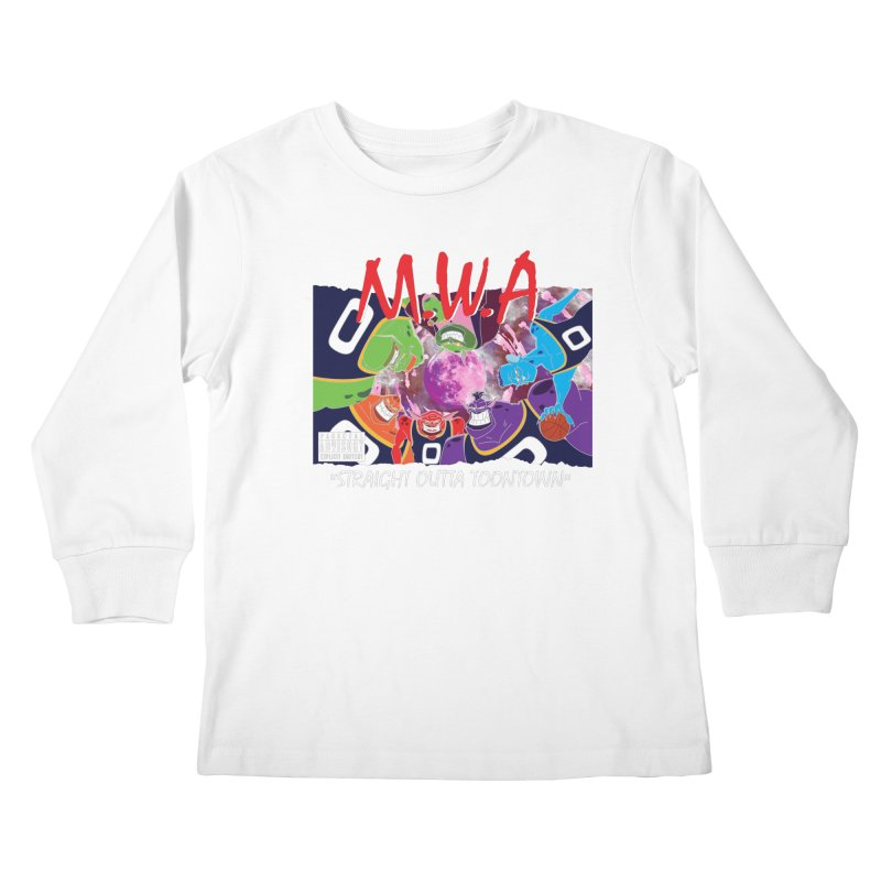 Straight Outta Toontown Kids Longsleeve T-Shirt by Daletheskater