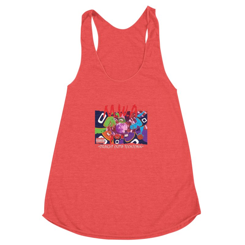 Straight Outta Toontown Women's Racerback Triblend Tank by Daletheskater