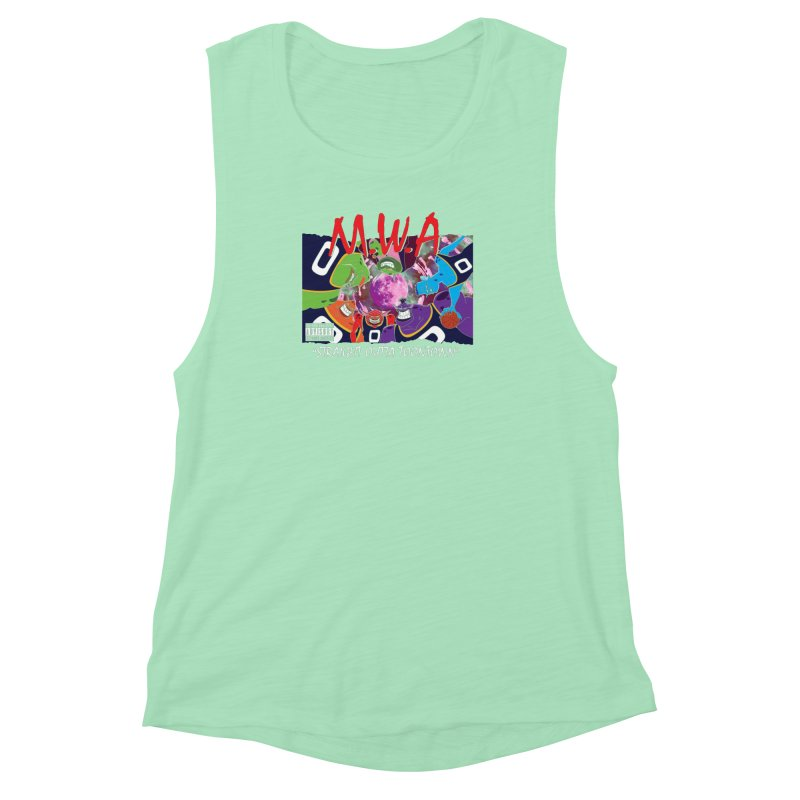 Straight Outta Toontown Women's Muscle Tank by Daletheskater
