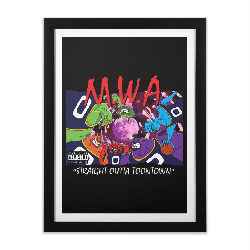Straight Outta Toontown Home Framed Fine Art Print by Daletheskater