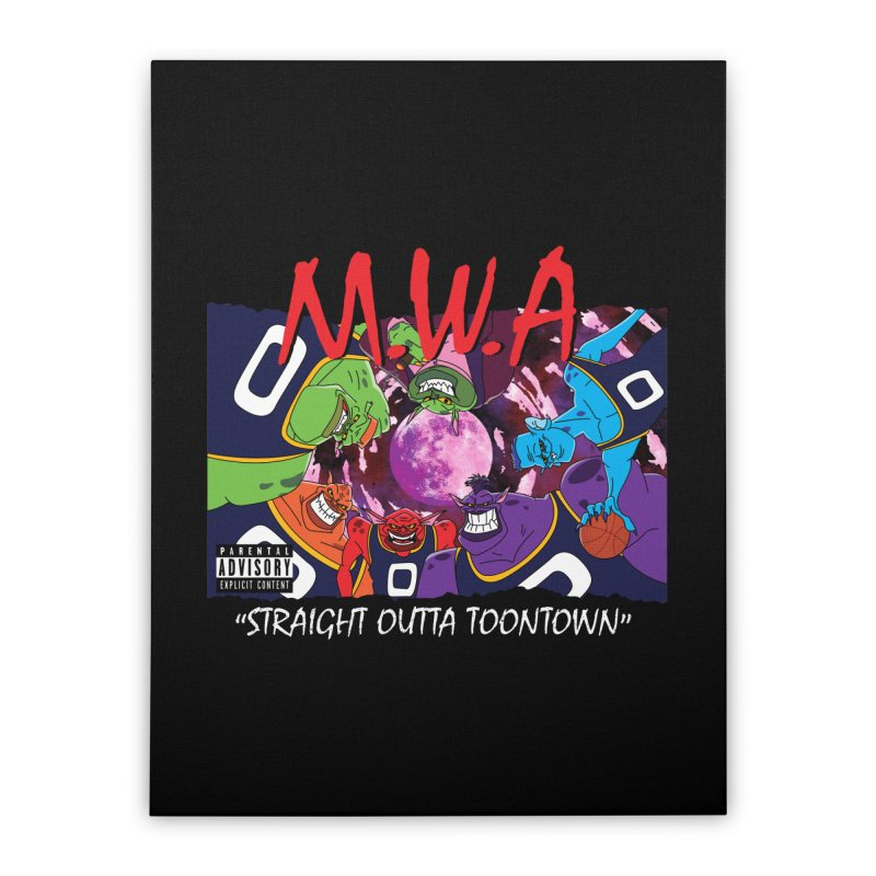 Straight Outta Toontown Home Stretched Canvas by Daletheskater