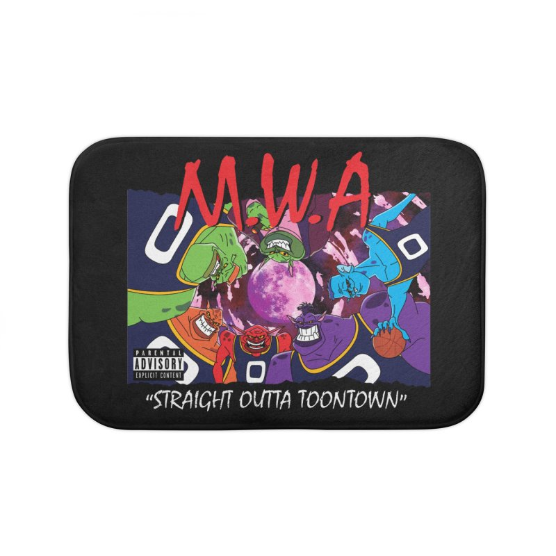 Straight Outta Toontown Home Bath Mat by Daletheskater