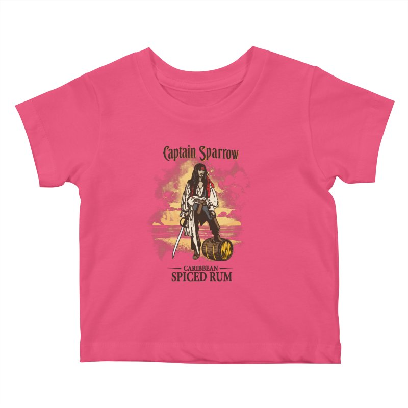 Captain Sparrow Kids Baby T-Shirt by Daletheskater