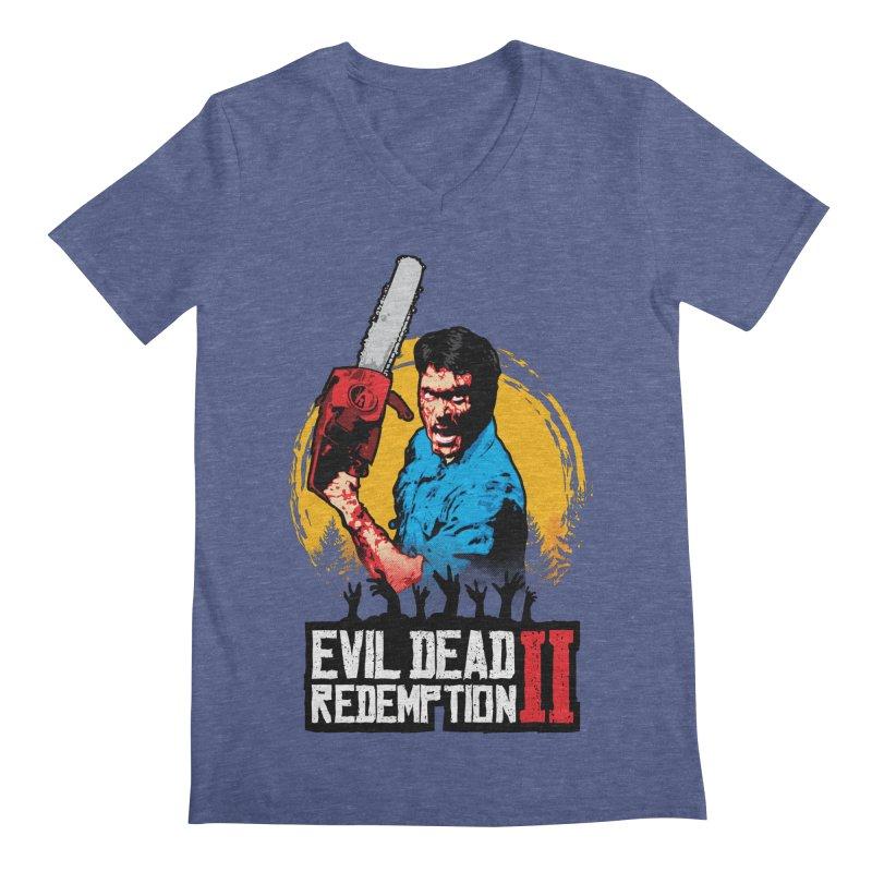 Evil Dead Redemption Men's Regular V-Neck by Daletheskater