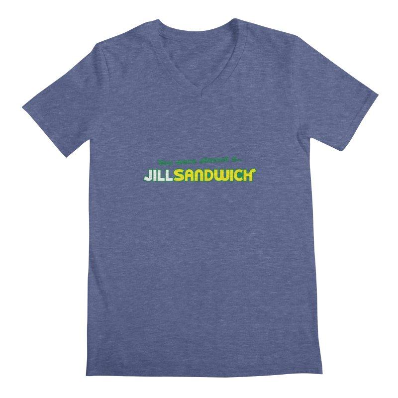 Jill Sandwich Men's Regular V-Neck by Daletheskater