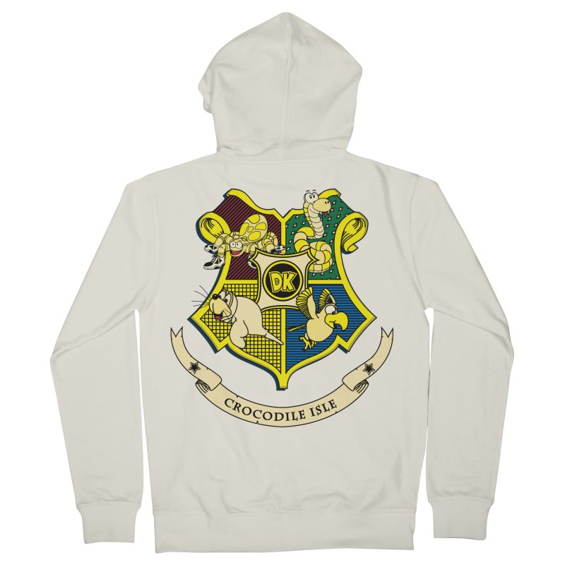 Crocodile Isle Men's French Terry Zip-Up Hoody by Daletheskater