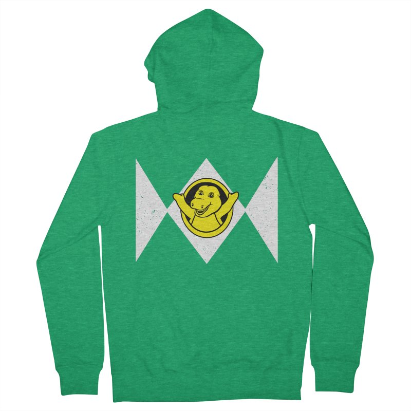 Barney Saurus Men's French Terry Zip-Up Hoody by Daletheskater