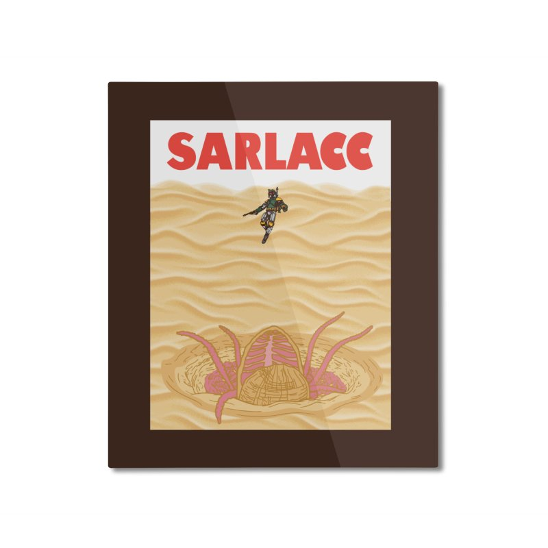 Sarlacc Home Mounted Aluminum Print by Daletheskater