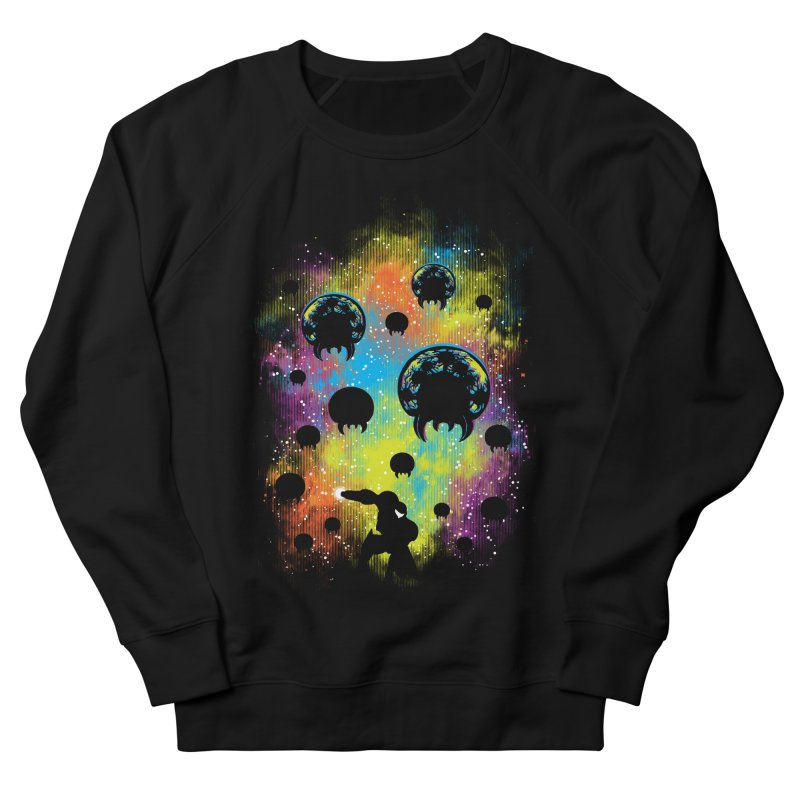 Galactic Warrior Men's French Terry Sweatshirt by Daletheskater