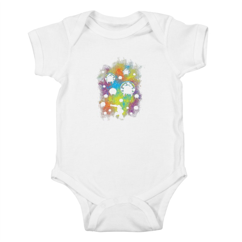 Galactic Warrior Kids Baby Bodysuit by Daletheskater