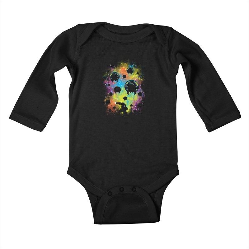 Galactic Warrior Kids Baby Longsleeve Bodysuit by Daletheskater