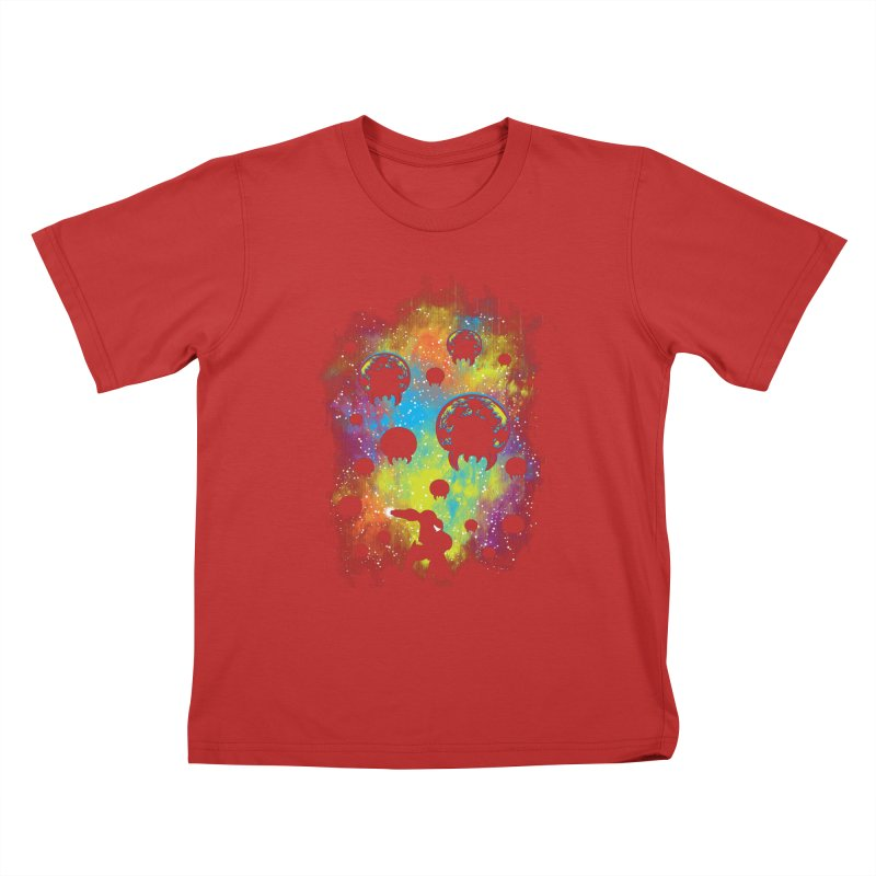 Galactic Warrior Kids T-Shirt by Daletheskater