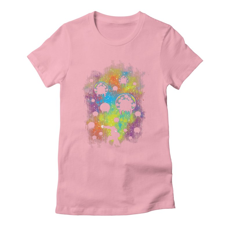 Galactic Warrior Women's Fitted T-Shirt by Daletheskater