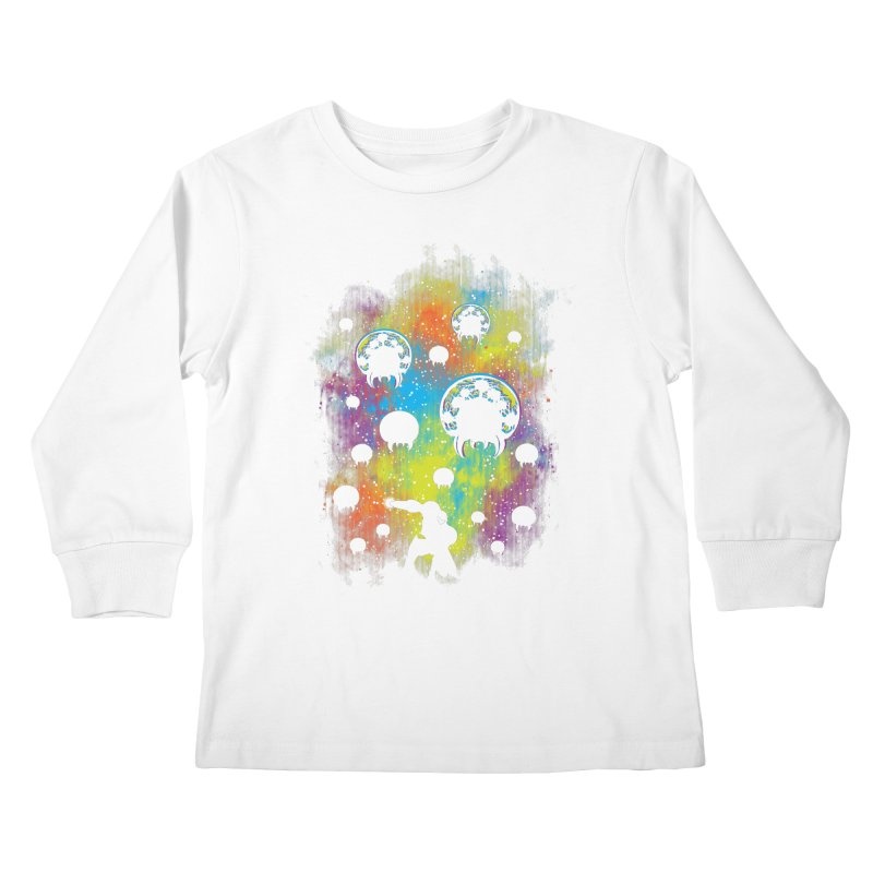 Galactic Warrior Kids Longsleeve T-Shirt by Daletheskater