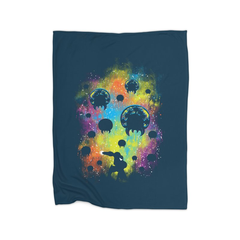 Galactic Warrior Home Fleece Blanket Blanket by Daletheskater