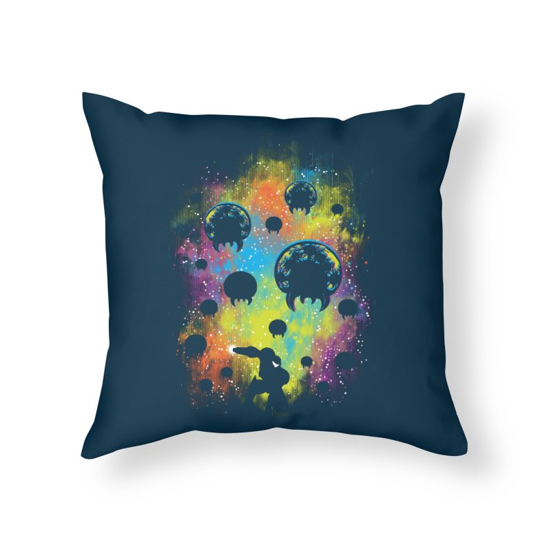 Galactic Warrior Home Throw Pillow by Daletheskater